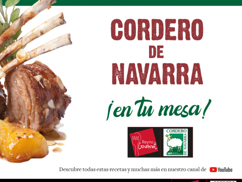 Cartel anunciador de la campaña Cordero de Navarra de INTIA-Reyno Gourmet 2018