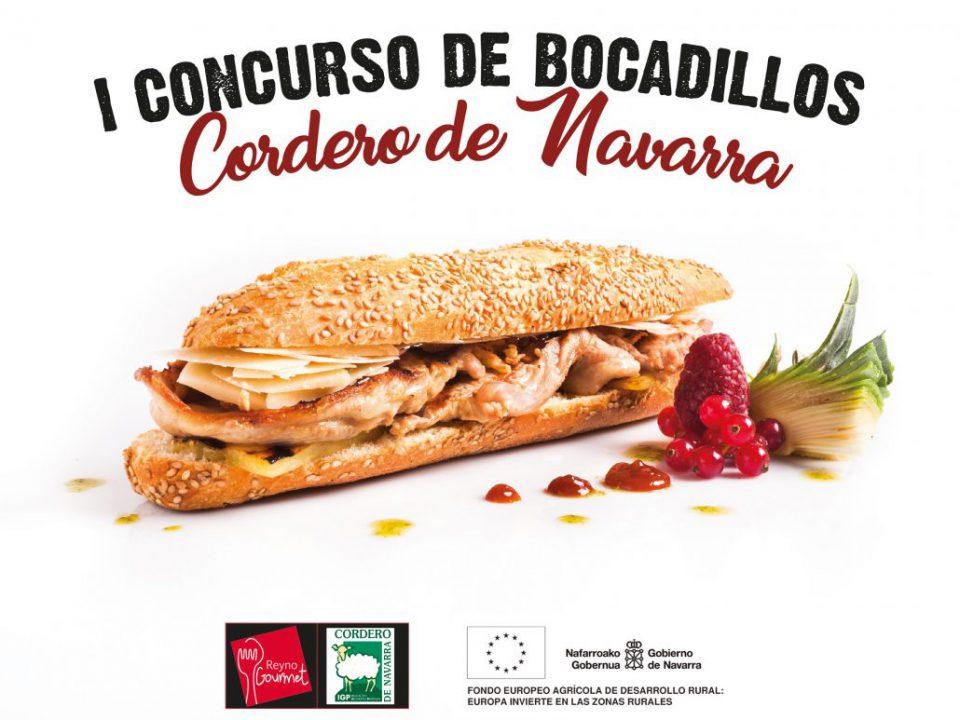 Cartel anunciador del primer concurso de de bocadillos de Cordero de Navarra